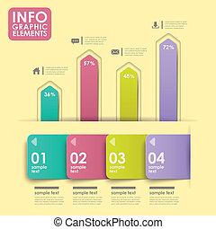 abstract bar chart infographics