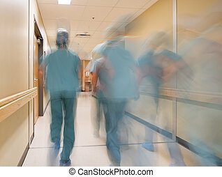 Blurred Motion Doctors And Nurses - Blurred motion doctors...