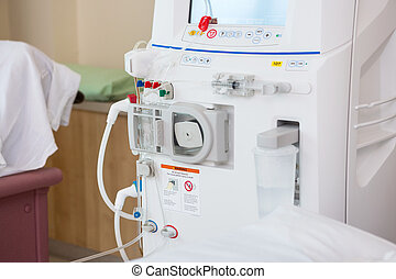 Advanced Dialysis Machine In Hospital - Cropped image of...