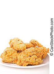 Fried Chicken Isolated Vertical