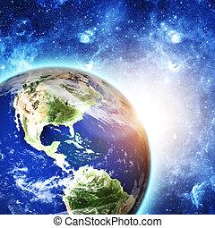 planeta, terra, espaço