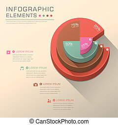 abstract pie chart infographics - vector abstract pie chart...