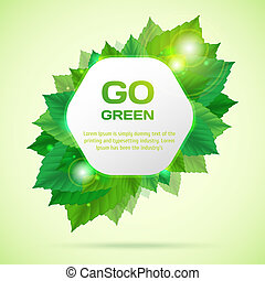 Abstract go green vector illustration with leafs Vector...