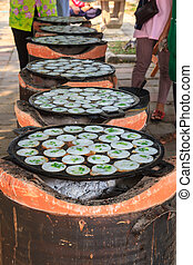 Kind of Thai sweetmeat, kanom krok - Kind of Thai sweetmeat...