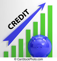 Credit Graph Means Financing Lending And Repayments - Credit...