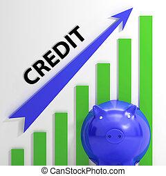 credito, gráfico, medios, financiamiento,...