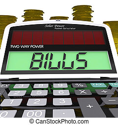 Bills Calculator Shows Accounts Payable And Due