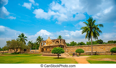view of the ancient Gangaikonda Cholapuram Temple dedicated...