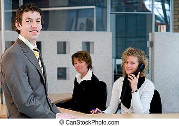 Front desk - Reception or front desk in an officebuilding