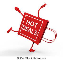 Hot Deals On Handstand Shopping Bag Showing Bargains Sale...