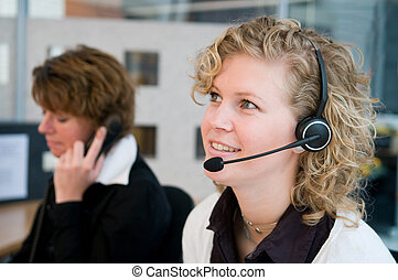 Front desk workers - Receptionist or frontdesk workers in an...