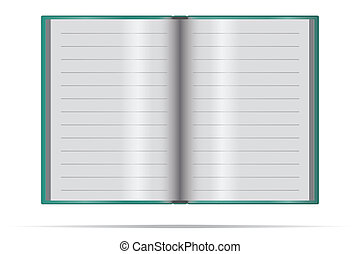 notebook on a white background
