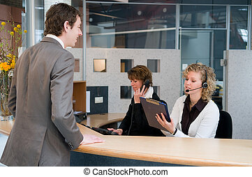 Front desk - Reception or front desk in an officebuilding