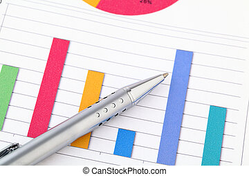 Data chart and pen
