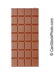 Chocolate bar - A chocolate bar isolated on white background