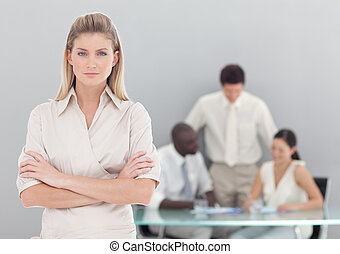 Young professional Business Woman looking at the camera