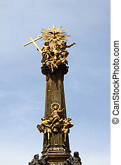 Holy trinity column in the Olomouc with blue sky