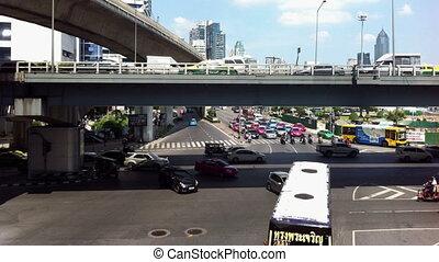 traffic street timelapse - Bangkok, Thailand - November 2013...