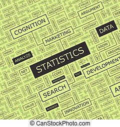 STATISTICS. Concept illustration. Graphic tag collection....