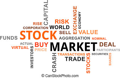 word cloud - stock market - A word cloud of stock market...