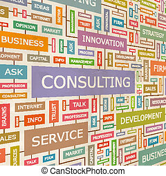 CONSULTING. Concept related words in tag cloud. Conceptual...
