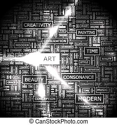 ART Background concept wordcloud illustration Print concept...