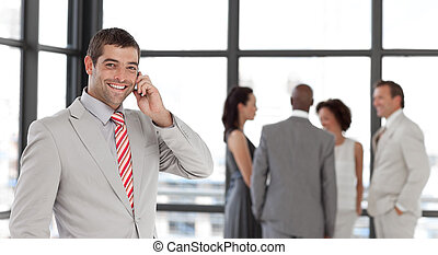 Businessman taking on the phone - Potrait of a Businessman...