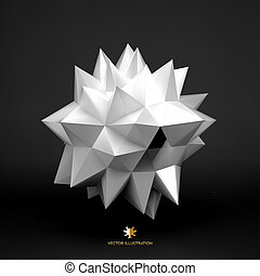 3D vector illustration. Abstract background.