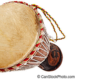 African djembe drum isolated on a white background