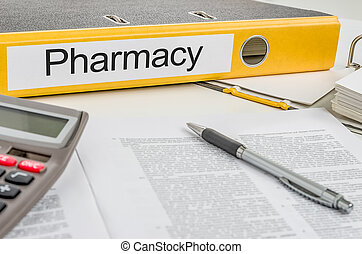 Folder with the label Pharmacy
