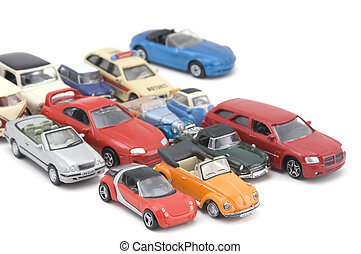 model toy car closeup - object on white - model toy car
