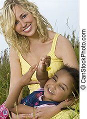Family Field - A beautiful blond haired blue eyed young...