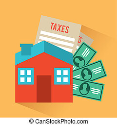 tax design - tax icon over cream background vector...