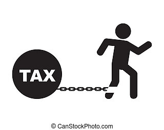 tax design - tax icon over white background vector...