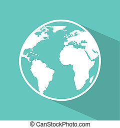 earth design over blue background vector illustration