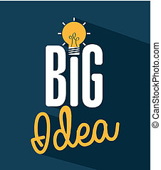 think,design - think design over blue background vector...