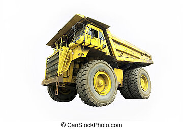 dump truck - isolated dump truck on white background