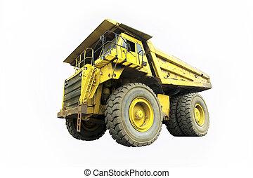 dump truck - isolated dump truck on white background