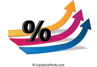 Arrows business finance logo