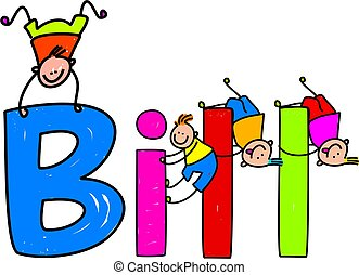 bill - Group of happy little boys climbing over the childs...