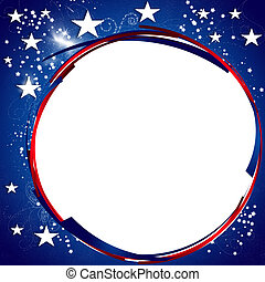 President Day Background - Starry American Patriotic...