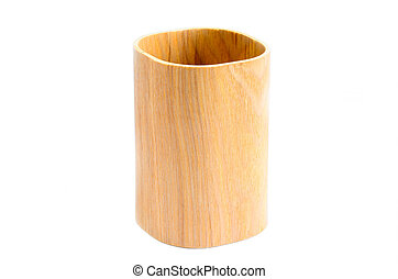 wood craft on white background