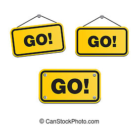 GO - yellow signs - suitable for user interface