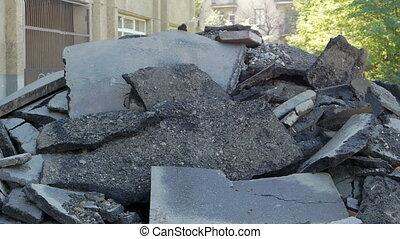 Heap of asphalt