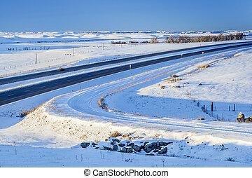 winter travel in Colorado