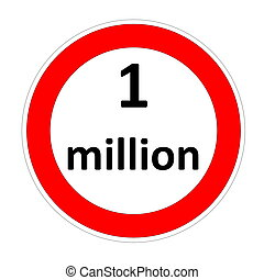One million speed limit - One million inside speed limit red...
