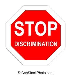 parada, discriminación