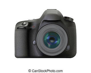 Modern digital reflex camera, Realistic DSLR camera