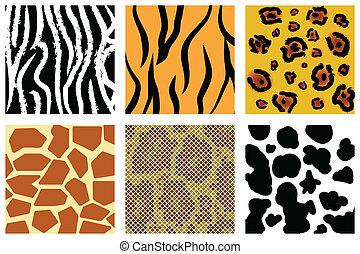 animal skin - The animal skin seamless pattern set...
