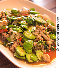 Sato Spicy fried with minced pork